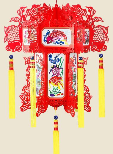 """Superabundance Year After Year""Paper-Carving Palace Lantern"