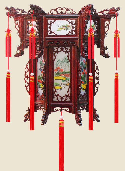 High-grade Imitating Rosewood Palace Lanterns
