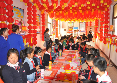 Experience room of palace lantern making